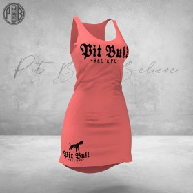Pit Bull Believe [Golden Age] Coctail Long Dress