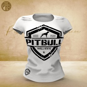 Pit Bull Believe [Hierarchy] Team Elite White női póló
