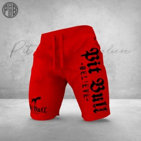 Pit Bull Believe [Golden Age] RED Short