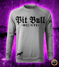 Pit Bull Believe [Golden Age] Grey pulóver