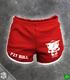 Pit Bull Believe [Iron Heart] Red női Short