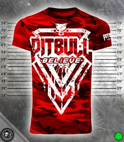 Pit Bull Believe [Stronger Elite Red Camo] póló