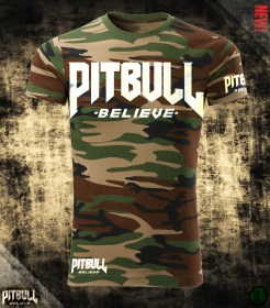 Pit Bull Believe [Stronger than Ever] Camo póló